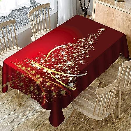 88AMZ Mantel de decoración navideña, Mantel Mesa Rectangular ...