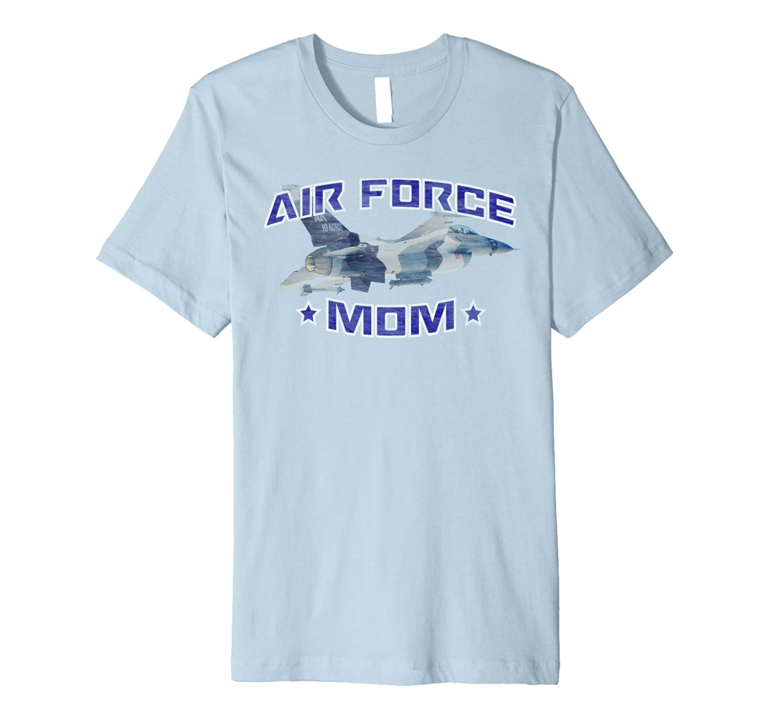 AIR FORCE MOM F-16 FIGHTING FALCON DISTRESSED T-SHIRT