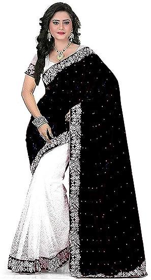 042c12d353 MMW Women s Cotton Silk Designer Saree With Blouse Piece(Black ...