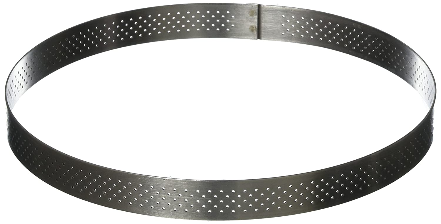 rund valrohna pastry ring tart perforated all de buyer round cm rings valrhona