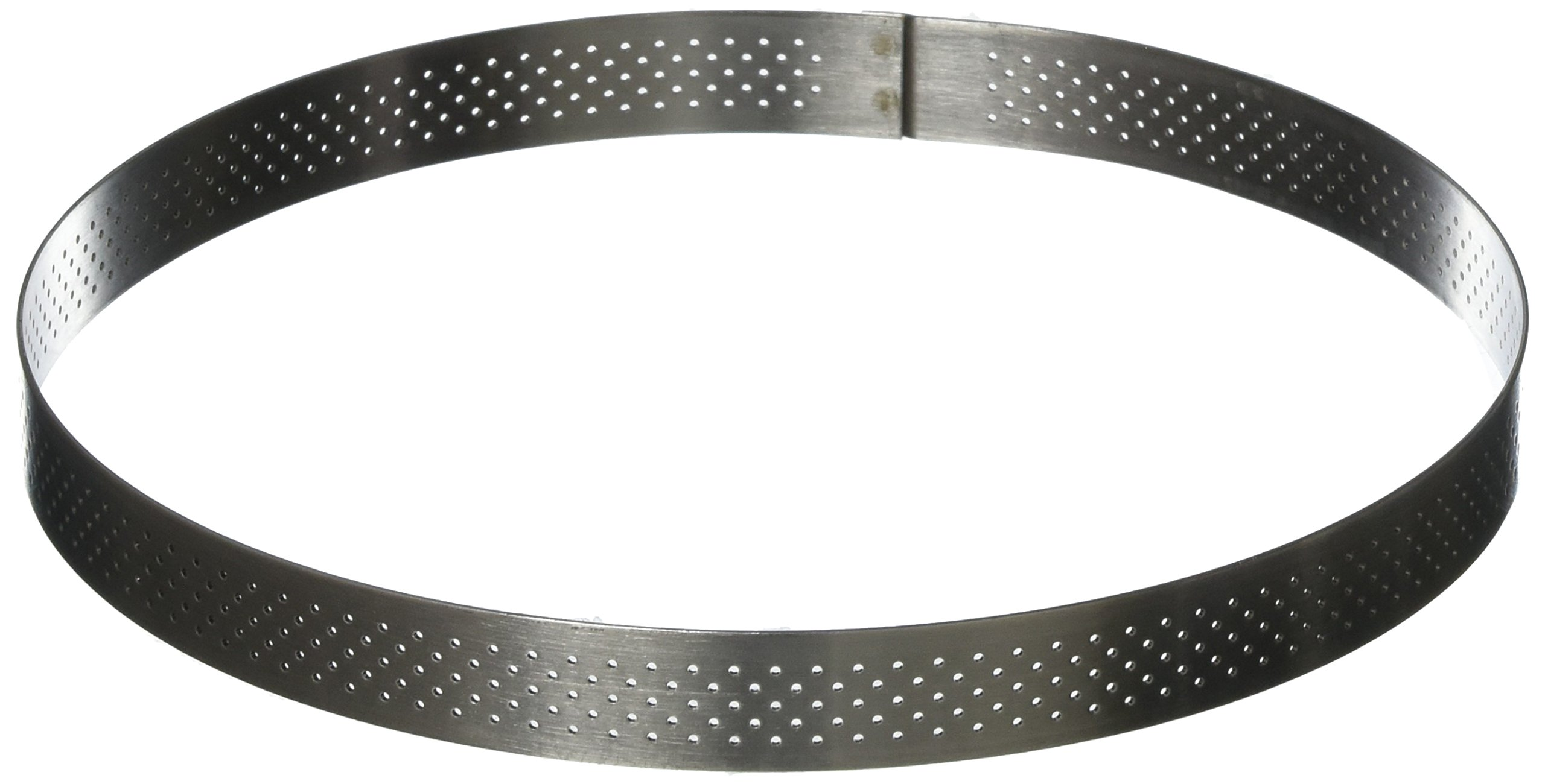 PERFORATED TART RING, Round, in Stainless Steel, 0.75-Inch high O 8-Inch