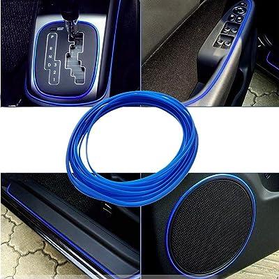 ATMOMO 5M Flexible Trim for DIY Automobile Car Interior Exterior Moulding Trim Decorative Line Strip (Dark Blue): Automotive