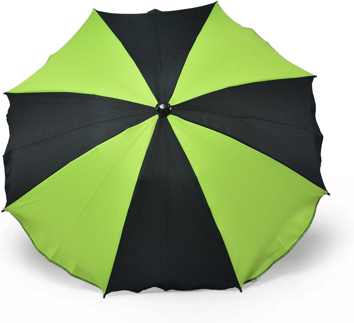 UV schutz50/+ toldo Protecci/ón Solar pantalla para cochecito de beb/é con soporte universal dos colores Brown-Cremes Universal sombrilla paraguas para carrito y Sport Buggy