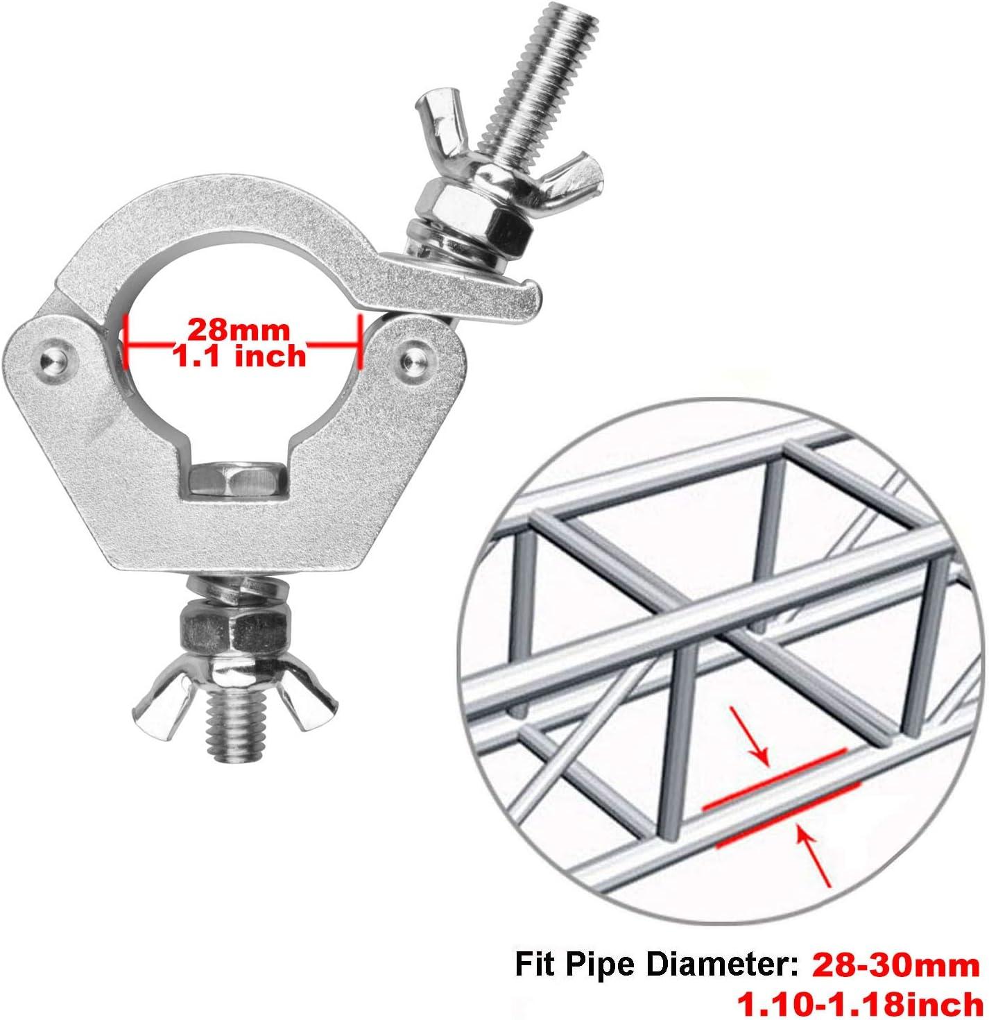 Paquete de 10 abrazaderas de aluminio 6061 con gancho de luz 40 mm para truss di/ámetro de tubo: 38