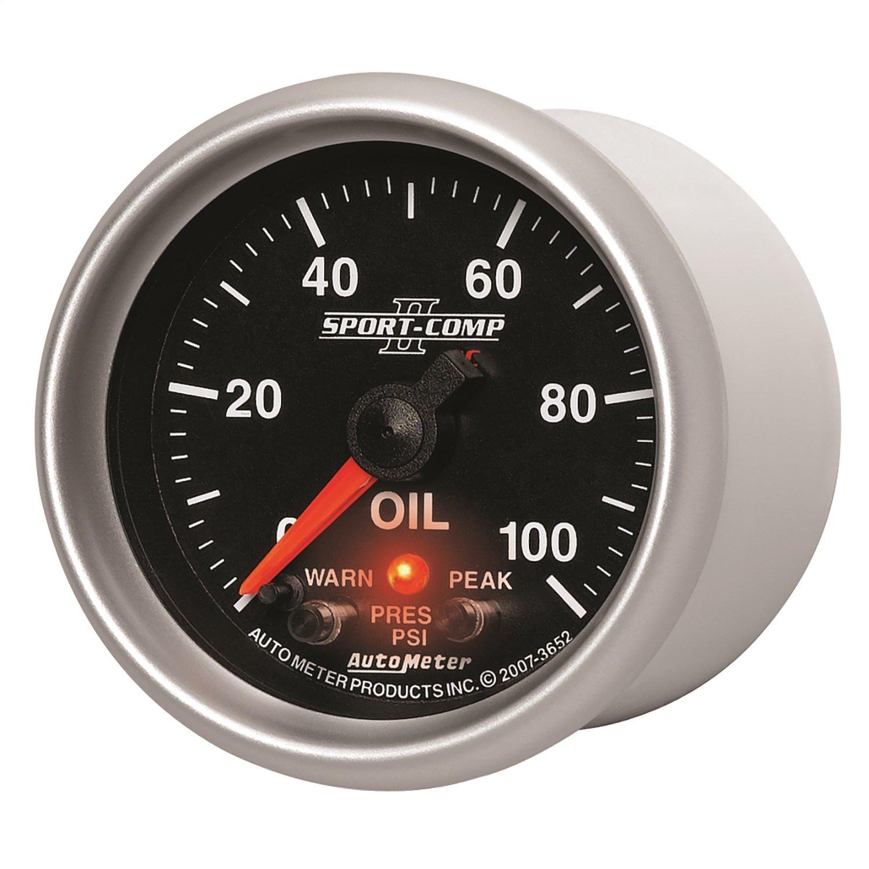 Auto Meter 3652 2-1/16'' 0-100 PSI Full Sweep Electric Oil Pressure Gauge