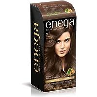 enega No Ammonia Cream Hair Color with Argan Oil and Green Tea Extract (Dark Brown 3, 100 ml Each)
