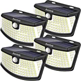 Aootek New solar lights 120 Leds upgraded with lights reflector,270° Wide Angle, IP65 Waterproof, Easy-to-Install…