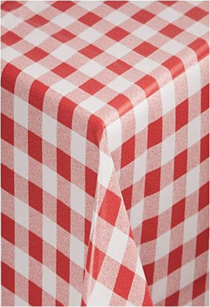 Tablecloth Shop The Red Gingham Vinyl Tablecloth Table Cover 2 Metres Amazon Co Uk Kitchen Home