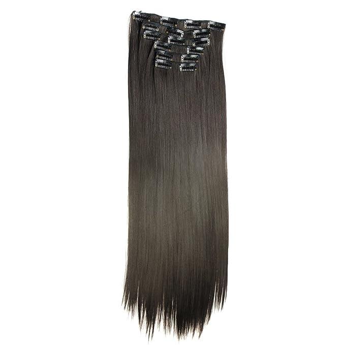 Peluca Mujer Pelo Natural Peluca De Pelo Lacio 6Pcs Peluca Larga Recta Pelucas Medio Parte SintéTico Wigs Beladla: Amazon.es: Ropa y accesorios