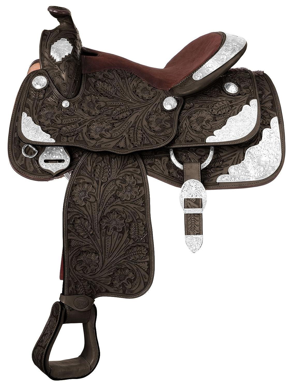 Tough 1 Premium Classic Premier Silver Show Saddle