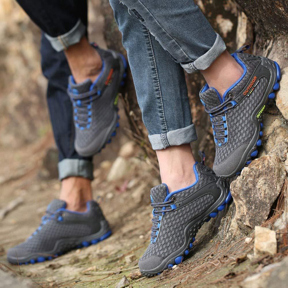 ZODOF Botas de Montaña para Hombres, Zapatos de Trekking, Zapatillas de Escalada para Caminar Calientes, Antideslizantes, Zapatos de Camping para Hombres de ...