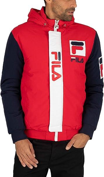 Fila Uomo Giacca Tecnica, Rosso, XS: Amazon.it: Abbigliamento
