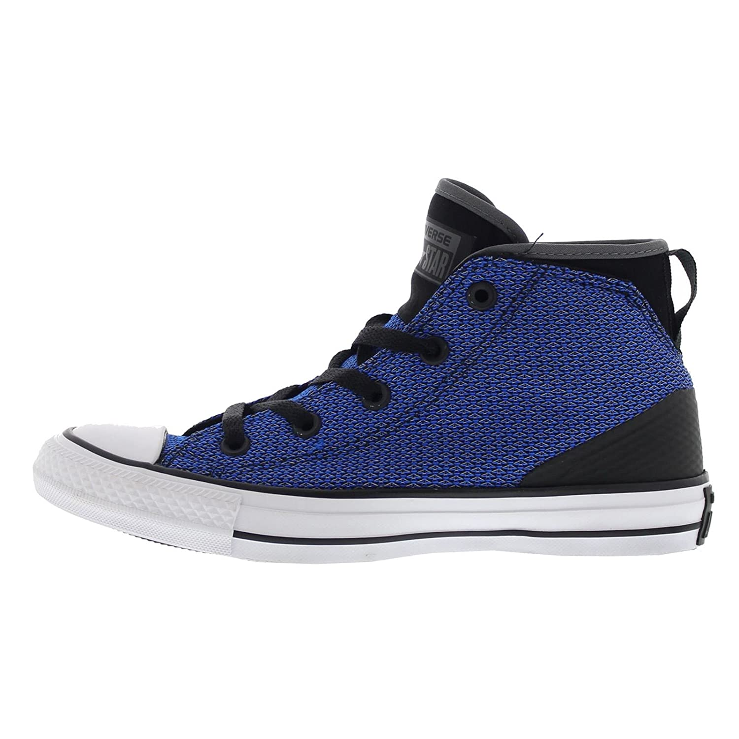 Converse Womens Chuck Taylor All Star Syde Street Mid Black Blue Mesh Trainers 5.5 UK X14BxvOPr