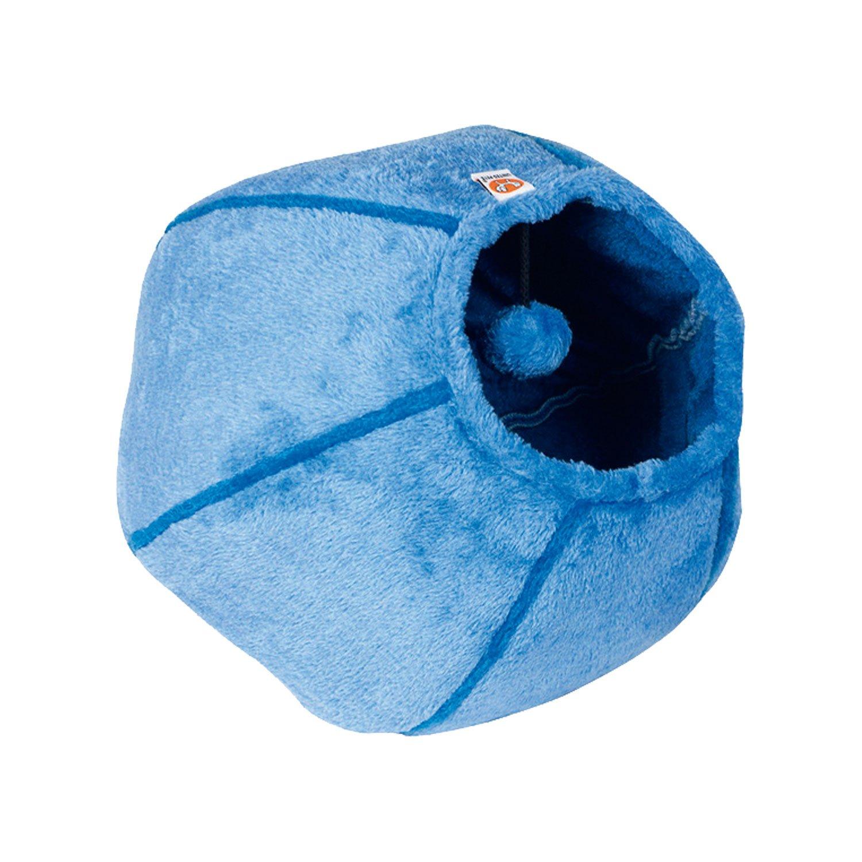 United Pets TP5201AZ - Corbeille pur chat CAT CAVE, 35 x 35cm, bleu clair/bleu turquoise 2074896