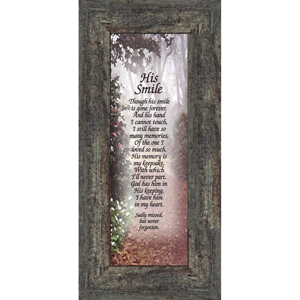 Amazoncom His Smile In Memory Of A Loved One Loving Memory Gift