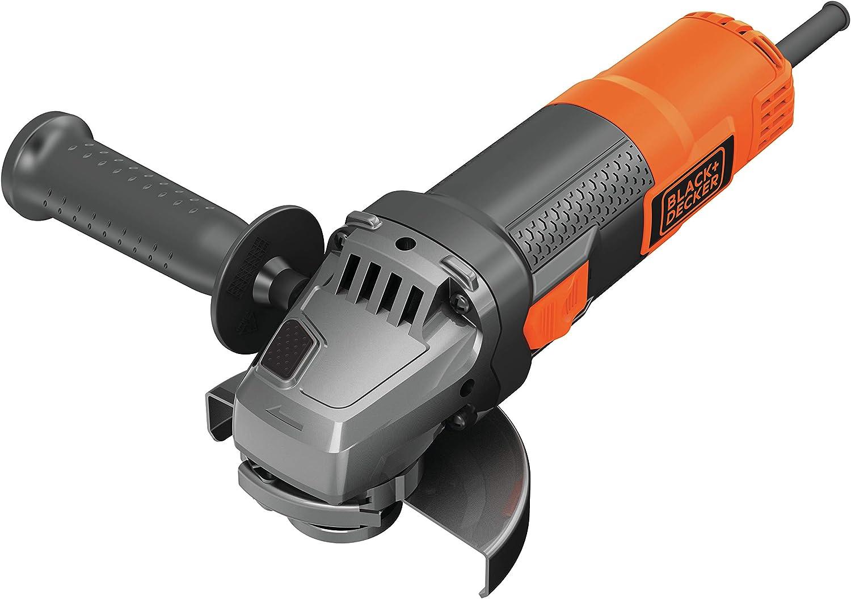 BLACK+DECKER BEG210-QS - Amoladora 115mm, 12.000 rpm, incluye empuñadura lateral