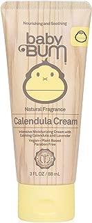 product image for Sun Bum Baby Bum Calendula Cream | Moisturizing Anti-Inflammatory & Antibacterial Cream to Soothe Eczema & Rashes| Natural Fragrance | Gluten Free and Vegan | 3 FL OZ