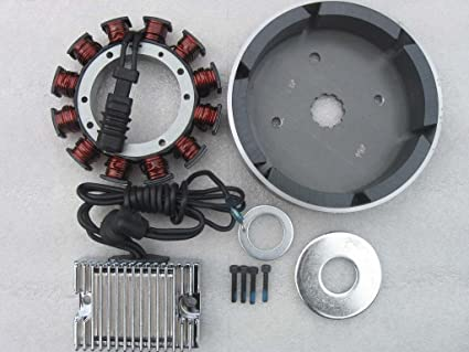 HARLEY EVO & S&S 32AMP COMPLETE CHARGING SYSTEM W/CHROME REGULATOR RECTIFIER