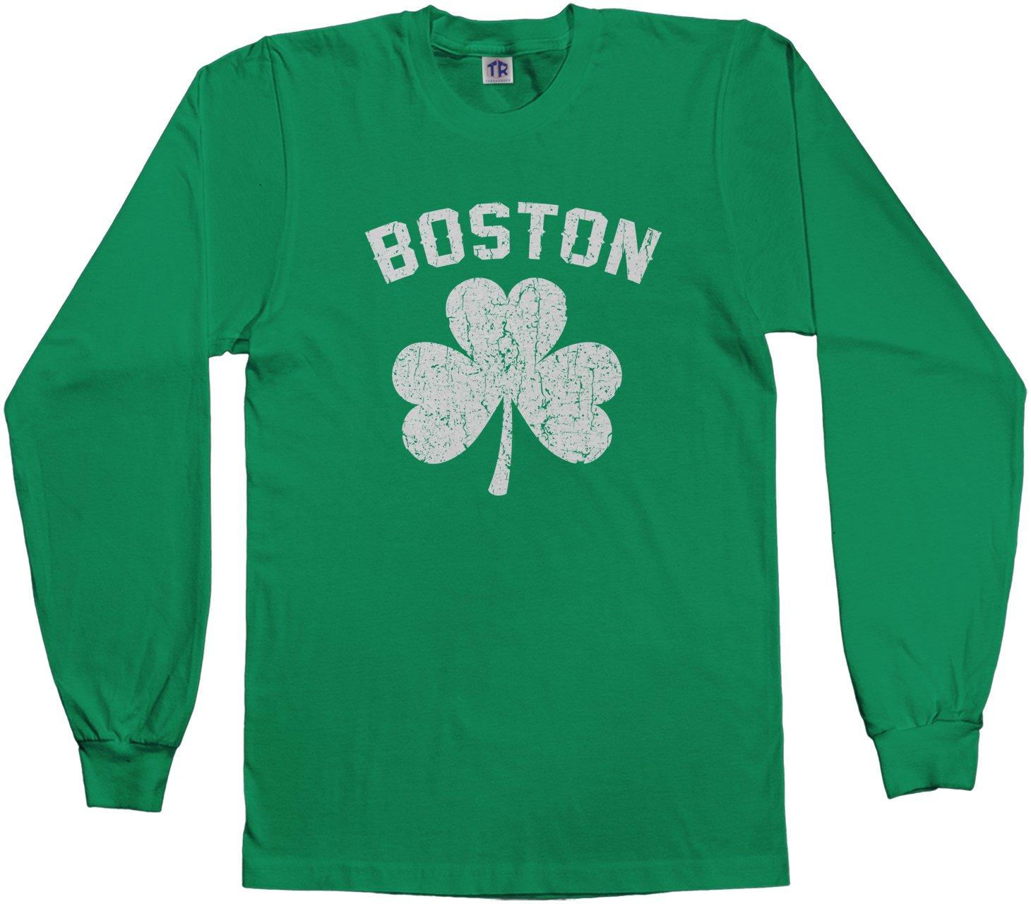 Big Boston Shamrock Irish Pride L S T Shirt 3998