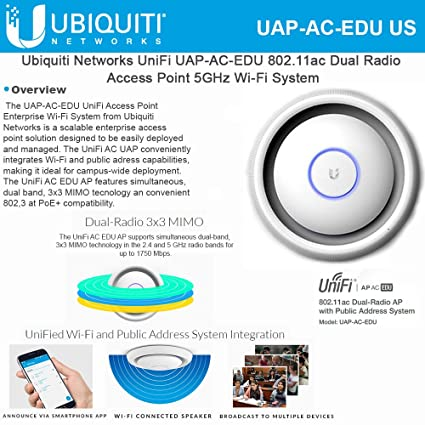 Amazon com: Ubiquiti UAP-AC-EDU(US) Ubiquiti UniFi AP, AC