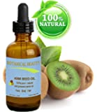 """KIWI SEED OIL. 100% Pure / Natural / Undiluted /Virgin Cold Pressed Carrier oil. 0.5 Fl.oz.- 15 ml. For Skin, Hair and Lip Care. """"One of the richest natural sources of vitamin C & E, potassium, magnesium and a remarkable stable source of omega 3 &6, Alpha Linolenic Acid"""". by Botanical Beauty"""