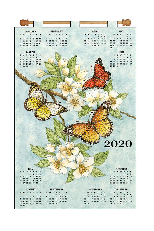Design Works Jeweled Beads Kit Calendar 2020 ~ Butterflies