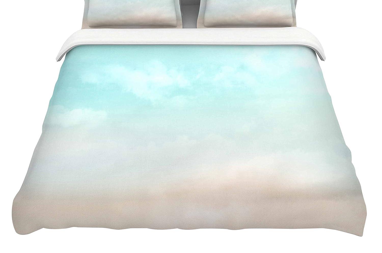 60 x 40 Fleece Blankets Kess InHouse Frederic Levy-Hadida Terror from Deep Space Teal Purple Throw