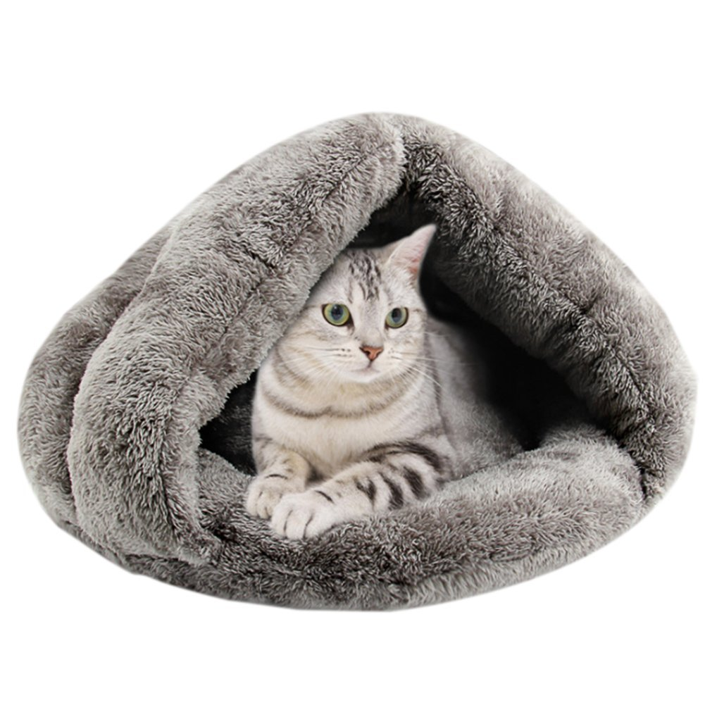 iBaste Faux Fur Pet Cave for Small Dog Cat Slip Style Bed Indoor for Puppy Dogs