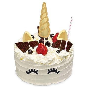 Tiaobug Einhorn Kuchendekoration Happy Birthday Party Kuchen