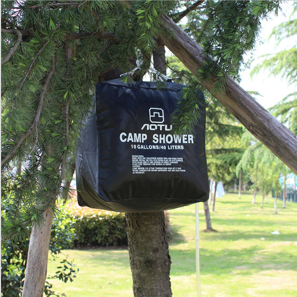 Senderismo Camping Shower para Deportes al Aire Libre Chrasy Ducha Solar port/átil Acampada Viajes Agua Caliente Ducha Bolso 40 litros