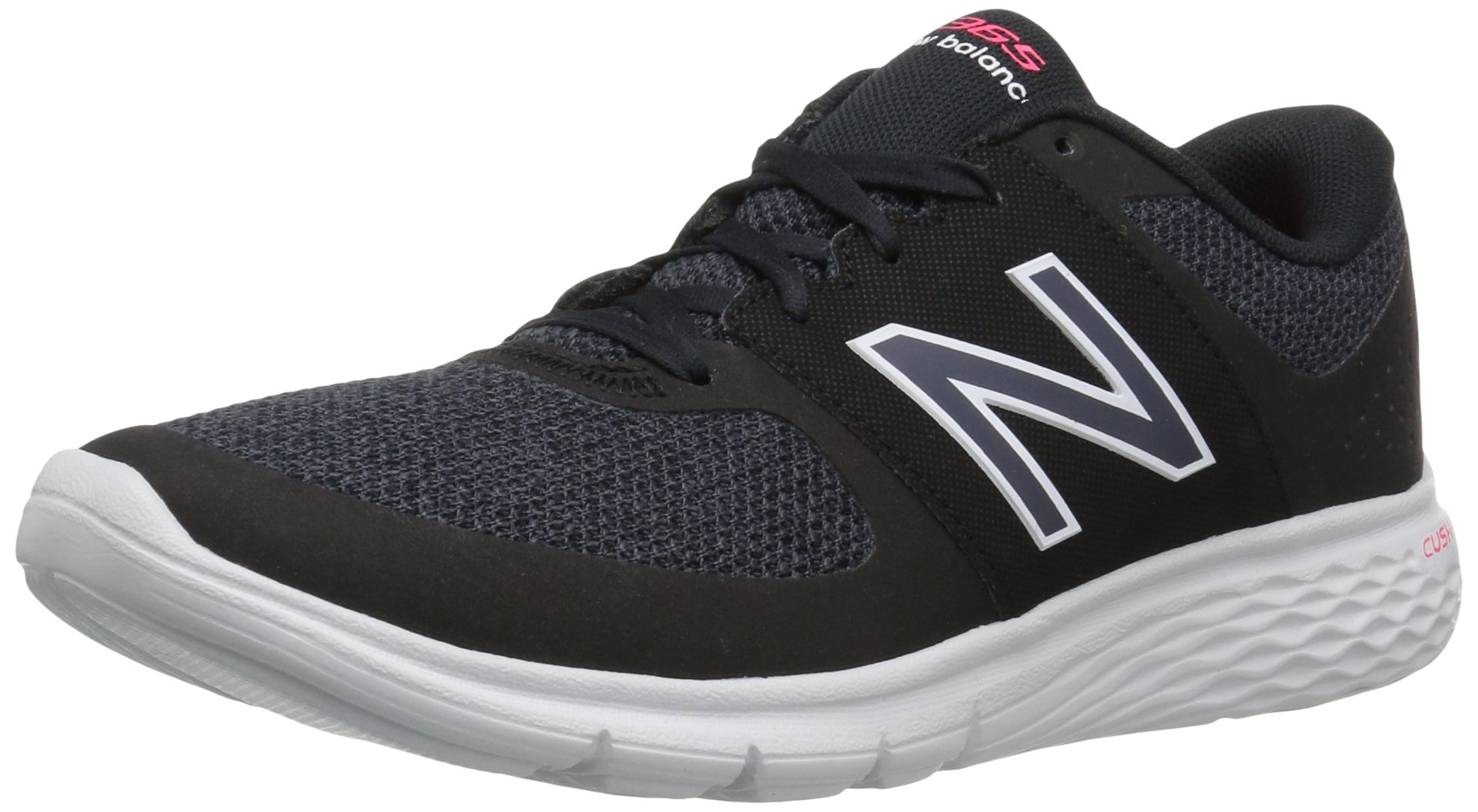 New Balance Women's WA365v1 CUSH + Walking Shoe, Black/White, 9.5 B US
