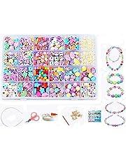 0816d2d04 Vytung Beads Set for Jewelry Making Kids Adults Children Craft DIY Necklace  Bracelets Letter Alphabet Colorful