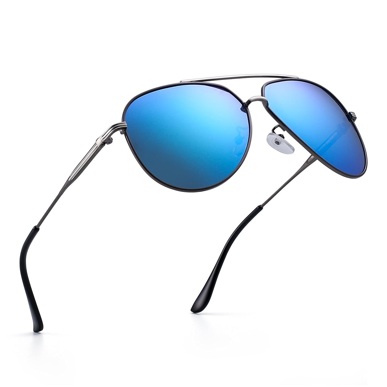 Jim Halo Polarizadas Aviador Gafas de Sol Clásico de Metal Conducir Piloto Anteojos Hombre Mujer