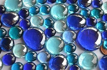 Glas Blaumix 200g ca.130-150St. Mosaiksteine unregelm/ä/ßig. Soft-Glas