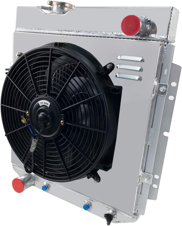 CoolingCare Radiador de aluminio de 3 filas + ventilador de ...