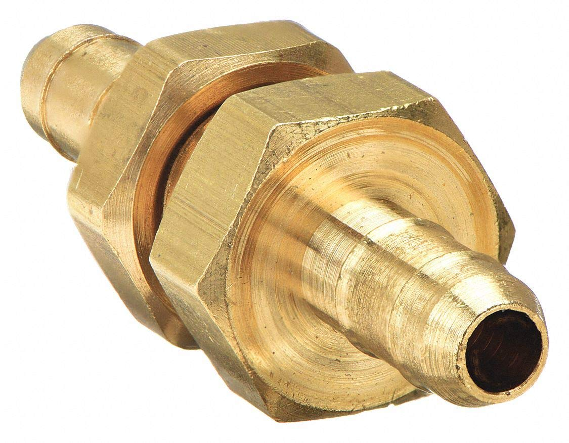 Brass Barbed 0.250 in Parker 22BH-6-6 Bulkhead Union