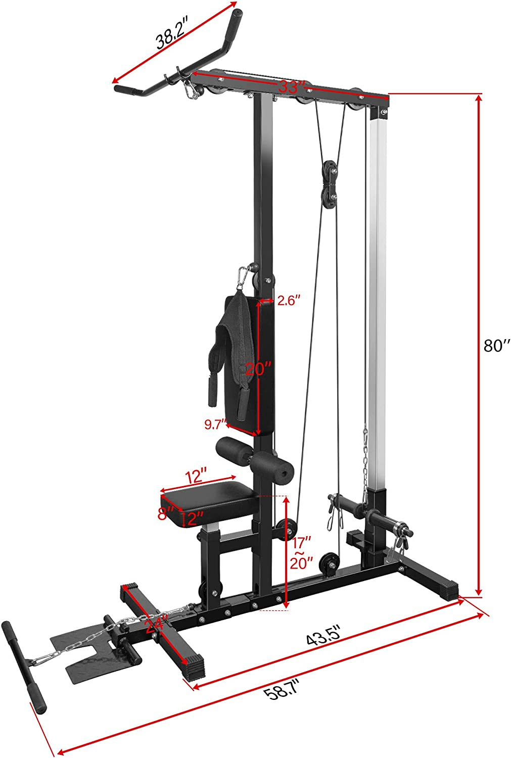 lat pulldown and cable machine