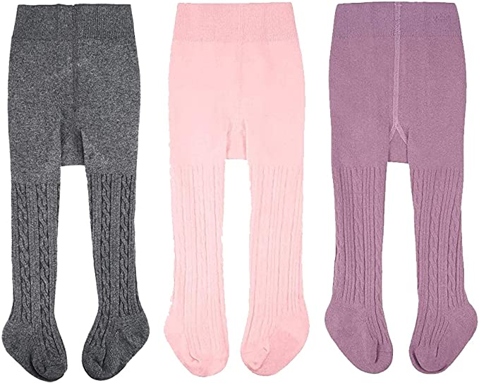 Toddler Baby Basic Ribbed Sweater and Leggings Footless Tights Kids Little Girls Dress Bottom Top Pants