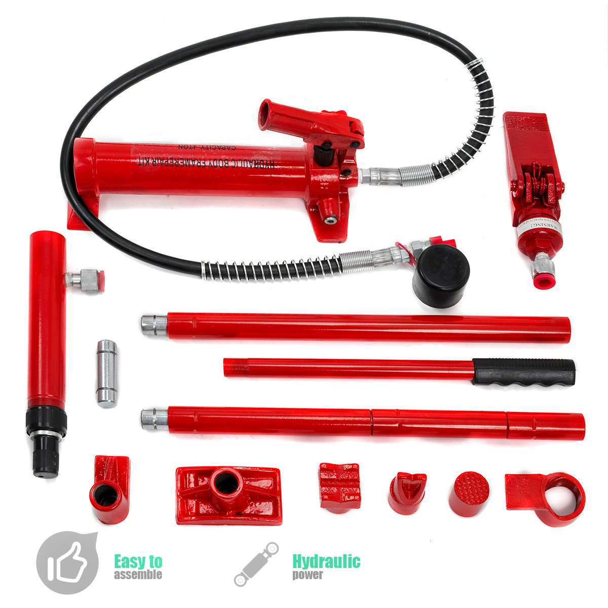 XtremepowerUS Hydraulic Porta Power Auto Body Frame Repair Kit (10 Ton or 4 Ton) by XtremepowerUS (Image #3)