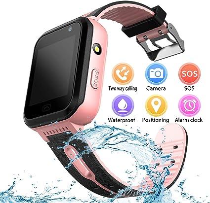 YENISEY Kids Waterproof Smart Watch, Children Phone IP67 Waterproof Smartwatch, Upgrade Touchscreen Smartwatchs, LBS Tracker SOS Anti-Lost Remote ...