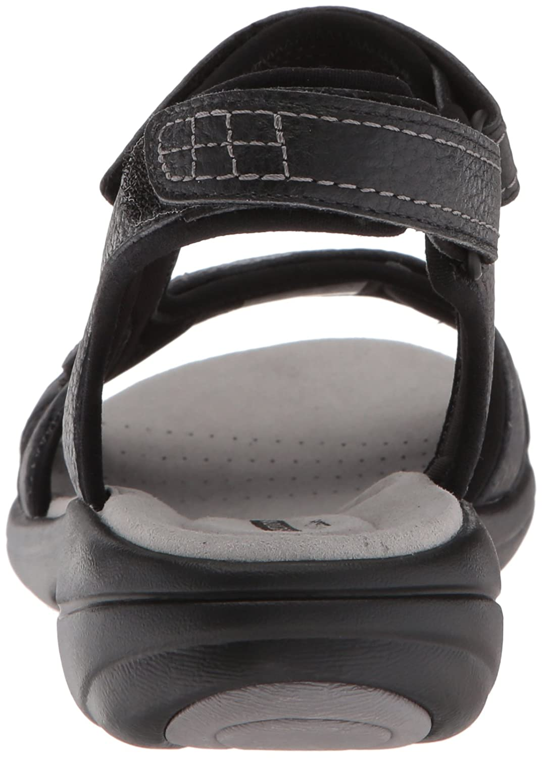 CLARKS Women's Saylie Jade Sandal B074CKC75J 6 W US|Black Tumbled Leather