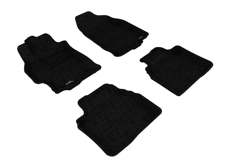 Tan 3D MAXpider Complete Set Custom Fit Floor Mat for Select Mazda6 Models Classic Carpet