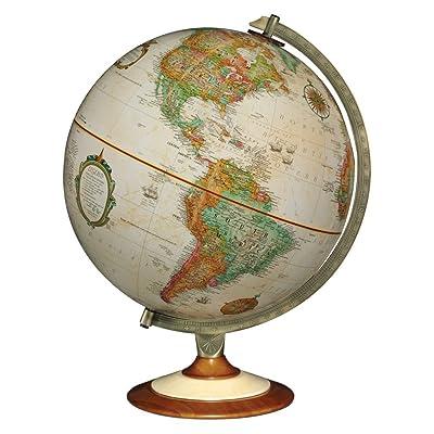 Replogle Salem 12 in. Antique Desk Globe Made in USA: Home & Kitchen