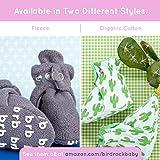 Fleece Baby Booties - Organic Cotton & Gripper