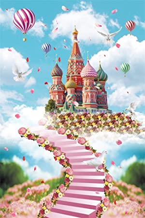 SZZWY Fairy Tale Castle10 x 10 CP Pictorial Cloth Wedding Photography Background Vinyl Backdrop 10496