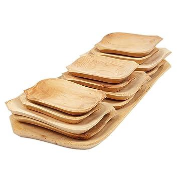 Große Holz Servierplatte 12 Unterschiedliche Holzteller Tappasplatte