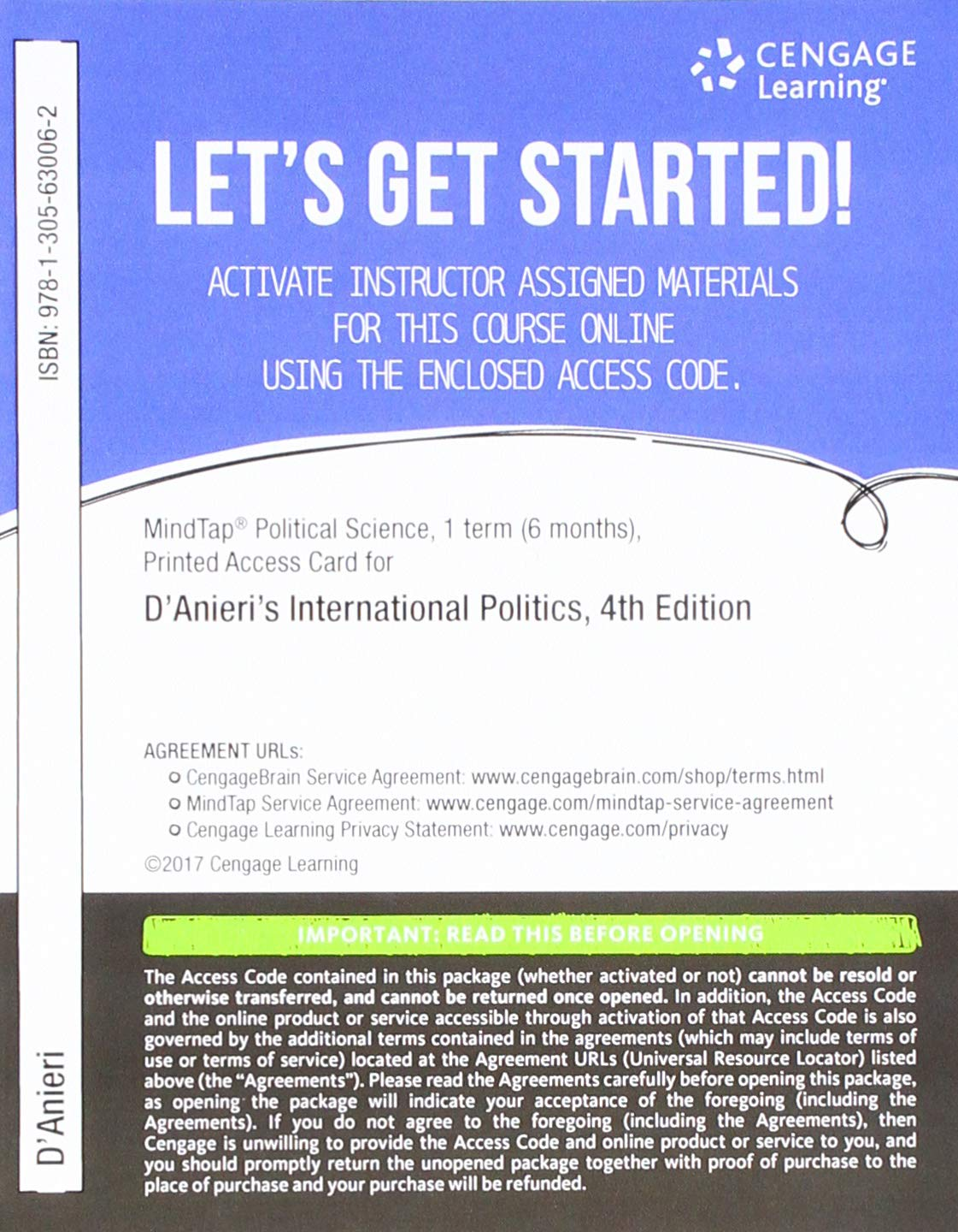 Buy MindTap Political Science, 1 term (6 months) Printed