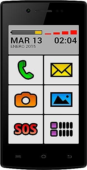 Funker C80 - Easy Touch Negro Smartphone Facil Uso: Amazon.es ...