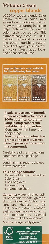 3d1a08397 Logona Colour Cream, Copper Blonde 150 ml: Amazon.co.uk: Beauty