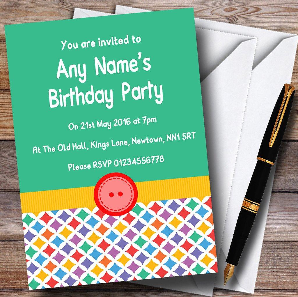 muchas concesiones 150 Invitations Colors Colors Colors del arco iris botón Niños invitaciones de la fiesta  descuento online